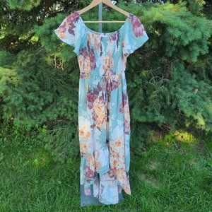 Band Of Gypsies Off The Shoulder Floral Dress
